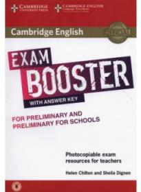 Exam Booster For Preliminary And for Teachers  Pet For Schools With Answer Key With Audio