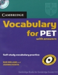 Vocabulary for PET with answers+CD-ROM