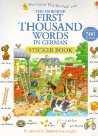 The Usborne First Thousand words in German. Sticker Book