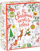 Изображение 20 Christmas cards to colour