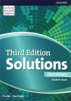 Solutions (3rd edition) Elementary: Student's Book